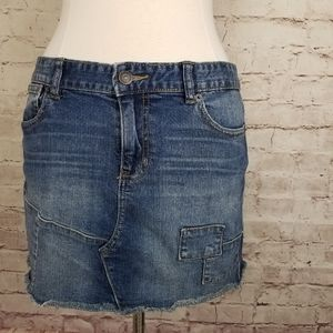Calvin Klein Jeans Patchwork Denim Mini Skirt